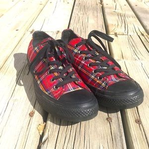 Plaid Converse Women's 8